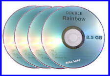Pack Of 5  Pieces Rainbow Dual Double Layer Blank DVD+R 8.5GB High Quality