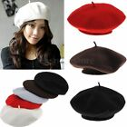 New Women's Warm Soft Wool Fashion French Berets Tam Beanie Slouch Hat Cap US