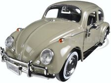 1966 VOLKSWAGEN BEETLE BEIGE 1/24 DIECAST MODEL CAR BY MOTORMAX 73223