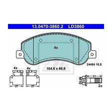 ATE LD3860 Bremsbelagsatz, Scheibenbremse ATE Ceramic  13.0470-3860.2  Vorne