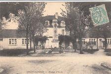 CHATEAUNEUF maison d'Ecole timbrée 1904