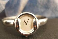 Beautiful, Elegant, Classic Ladies Stainless Steel GUCCI BANGLE Quartz 27mm