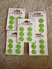5 Packs Of Lime Fashion Buttons By Lamode 3/4In 19Mm Triangle Round 30 Total