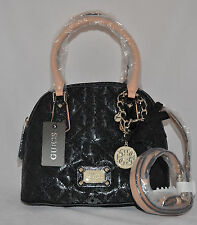 $108 GUESS Juliet Girlfriend Dome Satchel Bag Purse Quilted Signature Charm New