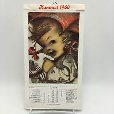 Vintage 1968 German Hummel Postcard Calendar Beautiful Color Photos ARS Sacra