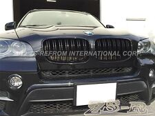 M Style Gloss Black Front Grille For BMW E70 E71 Model X5 X6 SUV 2007-2013
