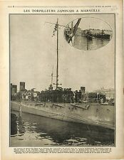 Japan torpedo boat Port Marseille Torpilleur Japon/Victory British Army 1917 WWI