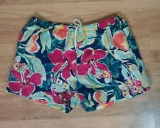 Vtg 80s 90s IZOD LACOSTE shorts swim trunks Swimsuit Board Hawaiian XL Floral