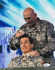 Stephen Colbert & General Ray Odierno Dual Signed 8x10 w/ JSA COA # L41817