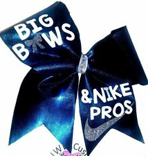 Big Bows & Nike Pros Mystique Cheer Hair Bow Free Shipping !