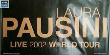Laura Pausini World tour 2002 poster locandina manifesto originale maxi 140*100