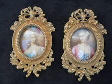 Paire de cadres en bronze style Louis XVI cadre pour photo miniature