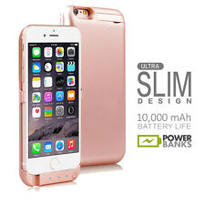 iPhone 6s Rose Gold 10000mAh PowerBank Case Rechargeable Protective Battery Case