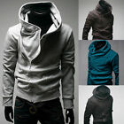 Cool Men's Slim Fit High Collar Top Jumper Casual Hoodies Coats Jackets Outwear