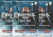 Vampires Rock Ghost Train - 2015/2016 Tour FLYERS x 3