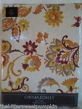 CYNTHIA ROWLEY~FABRIC TABLECLOTH~AUTUMN PAISLEY FLORAL~70 INCH ROUND~NIP!
