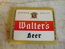 25 Vintage Walter Brewing Beer Labels Eau Claire, Wisconsin