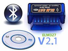 Super Mini olmo 327 Bluetooth OBD2 OBD II funciona en Android Torque