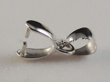 Fine Authentic 18K White Gold Pendant Clasp  Hook Small Size
