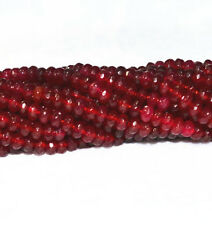 New 4x6mm Beautiful Red Ruby Rondelle faceted Loose Beads 15""