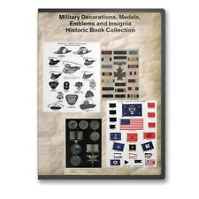 Military Decorations, Medals, Emblems and Insignia - 16 Historic Books CD - D465