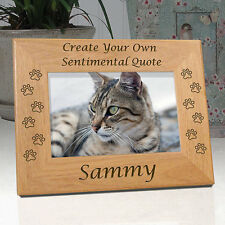 "Personalized ""Create Your Own"" Custom Cat Memorial Frame"