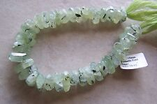 "8"" Strand Natural Prehnite Gemstone Faceted Nugget Slice Beads 11mm-15mm"