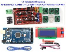 US 3D Printer Kit RAMPS 1.4 Board+LCD2004+MEGA2560 Module+5 xA4988 for RepRap