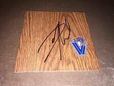 VILLANOVA WILDCATS BASKETBALL DARRUN HILLIARD SIGNED LOGO 4X4 FLOOR TILE COA