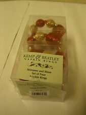 Kemp & Beatley Shimmer & Shine Holiday Holder Napkin Ring Gold Red New