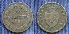 MONETA COIN ANTICHI STATI GERMANIA HERZOGTHUM NASSAU EIN KRUEZER 1838 GERMANY
