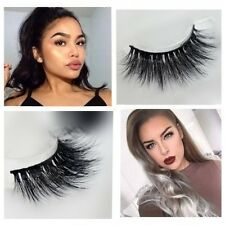 3D Luxury 100% real mink strip lashes famous lashes natural cross soft mink lash