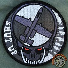 Dead Head Shut Up Hippie A-10 Warthog Patch - Bomber Patches Exclusive not B-52