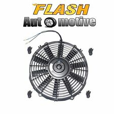 "12"" BLACK UNIVERSAL 12V SLIM PUSH/PULL ELECTRIC RADIATOR COOLING FAN 1730 CFM"