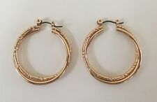 "New Avon Classic Hoop Earrings Gold / Goldtone Nickel Free - 1 1/4"" long"