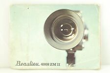 Beaulieu 4008 zm ii caméra manuel instruction book 56 pages film super 8