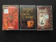Lot Of 3 Cassettes: Moonspell - Irreligious, Under The Moonspell, 2 Second Skin
