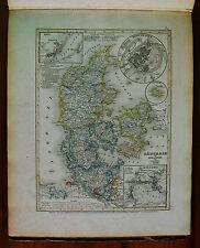 1849 MEYER'S ZEITUNGS-ATLAS=MAPPA GEOGRAFICA.DANIMARCA,HOLSTEIN,LAUENBURG.ETNA
