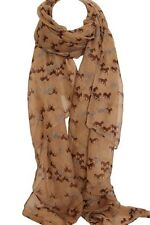 Elegant Beige Color  Horse Print Scarf Scarves Stole Wrap Shawl Sarong