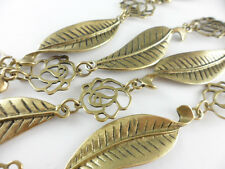50 inches Antique Brass Plated Rose Leaf Connector Chain Findings 41170