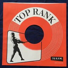 "TOP RANK 10""/ 78 R.P.M.  REPRODUCTION RECORD COMPANY SLEEVES - (pack of 10)"