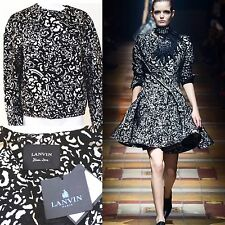 Lanvin Alber Elbaz Fall RTW 2014 Lace Print Jacket 36 uk 8