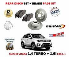 FOR SUZUKI VITARA 1.4 TURBO 1.6i 2015-- NEW REAR BRAKE DISCS SET + DISC PADS KIT