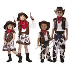 Cowboy Cowgirl Childrens Kids Boys & Girls Fancy Dress Costume Party 2-12 Years