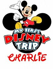 DISNEY  MICKEY MOUSE MY 1st TRIP VACATION  PERSONALIZED T-SHIRT IRON ON TRANSFER