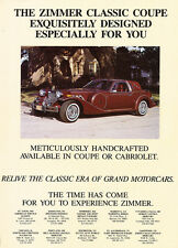 1987 Zimmer Golden Spirit Coupe - Original Car Advertisement Print Ad J258