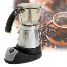 Portable 6 Cups Electric Espresso Coffee Maker Italian Percolator Moka Pot Home