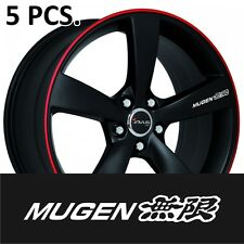 5pcs Honda Mugen Door Handle Wheel sticker decal Civic ACCORD Fit CR-V