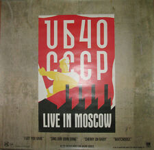 Ub40 Live In Moscow, A&M promotional poster, 1987, 24x24, Ex, reggae