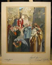 """Cleveland Woodward Original Bible Painting""""Israel Repenting"""" Listed Cape Cod"""